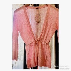 🌸2 DAY SALE! Free People delicate, pink sweater🌸